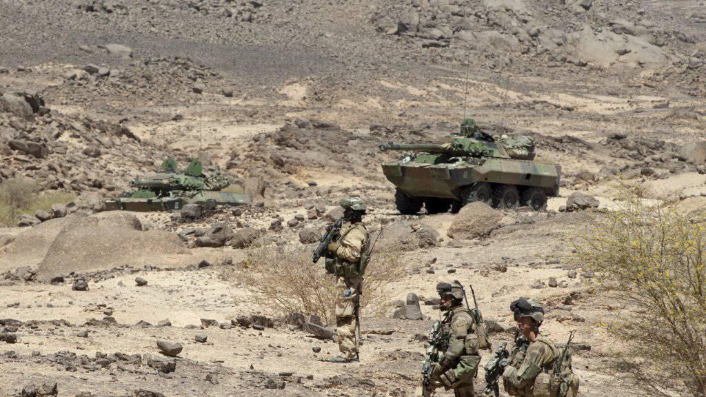 Französische Soldaten haben in einer grossangelegten Militäroperation 20 mutmassliche Islamisten in Mali getötet beziehungsweise festgenommen. (Archivbild)