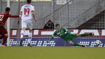 Der Führungstreffer zum 1:0 für den FC Vaduz nach einer halben Stunde im Heimspiel gegen den FC Sion