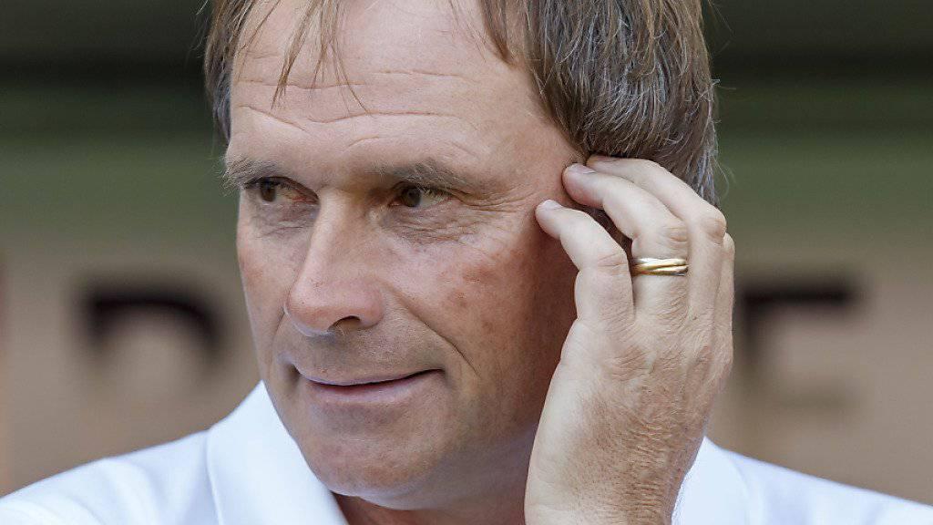 Trainer Alain Geiger ist mit Servette die Überraschung der bisherigen Saison