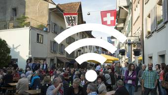 Volksmusikfreunde haben das Gratis-WLAN «Aarau Freenet» rege genutzt.