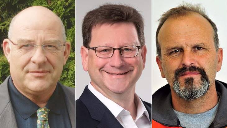 Werner Bürge Baldenweg (parteilos), Markus Knüsel (SVP), Waldemar Wehrli (parteilos).