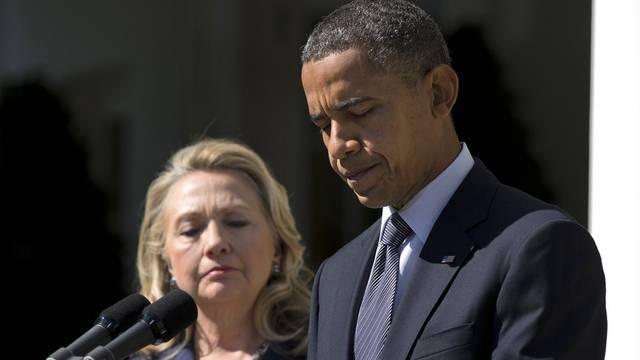 """Kommentieren den Mordaufruf als """"ekelhaft"""": US-Aussenministerin Hillary Clinton und Präsident Barack Obama (Archiv)"""