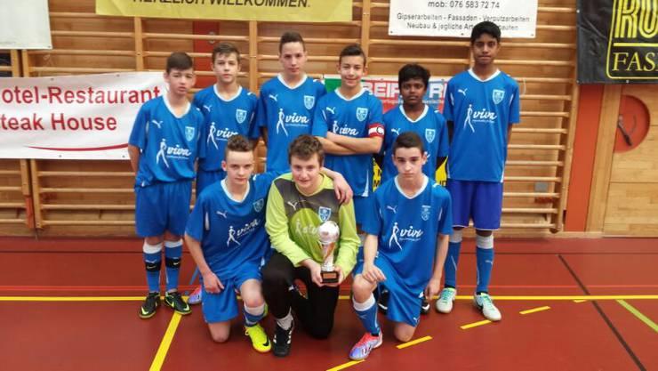 Die C-Junioren vom FC Frenkendorf beim Turnier in  Sissach  (  man wurde Zweiter )