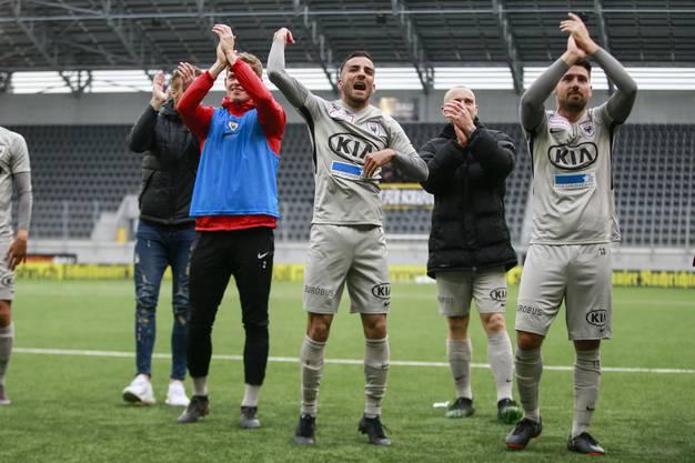 Es ist geschafft: Der FC Aarau steht dank dem 2:1 gegen Schaffhausen neu auf dem Barrage-Platz.