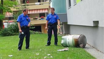 Explosion auf einem Spielplatz in Studen BE