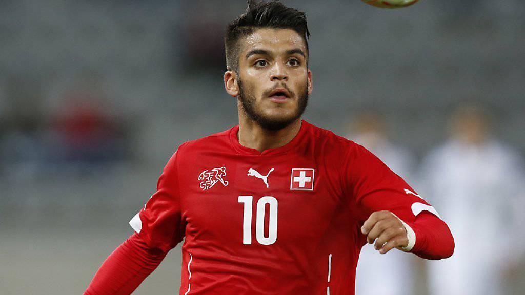 Francisco Rodriguez in Aktion für die Schweizer U21