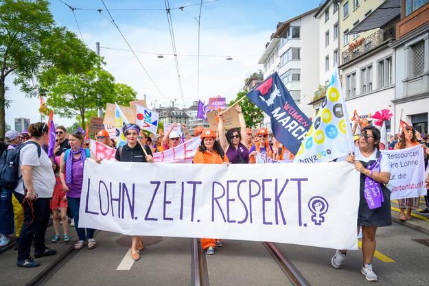 Die Forderung nach Lohngleichheit war ein wichtiges Anliegen des Frauenstreiks 2019.