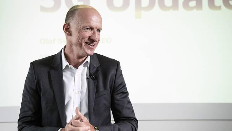 Da hat er gut lachen: Sunrise-CEO Olaf Swantee baut sein 5G-Netz aus (Archivbild).