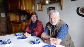 Margrith Schlup-Guazzini und Rudolf Eichelberger in der ehemaligen Turmwärterstube.