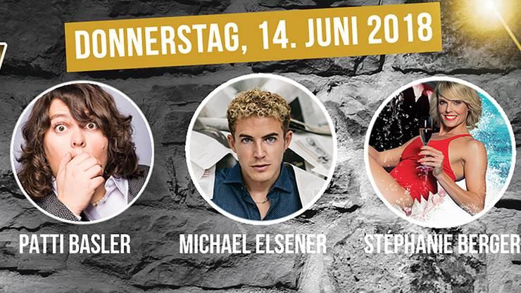 An der Comedy Night vom 14. Juni in Sarmenstorf wird ein hochkarätiges Trio erwartet.
