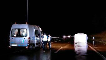 Tödlicher Unfall auf der Autobahn A3 bei Eiken