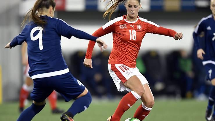 Viola Calligaris erzielte den ersten Treffer für die Schweizerinnen gegen Weissrussland