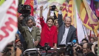 Alle Umfragen sehen Amtsinhaberin Rousseff als Wahlsiegerin