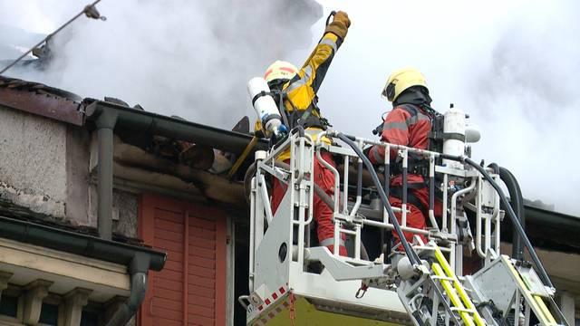 Schwieriger Altstadtbrand in Winterthur