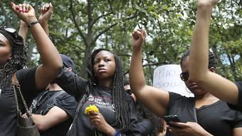Demonstration der Bewegung Black Lives Matter (Das Leben von Schwarzen zählt) am Sonntag in New York.