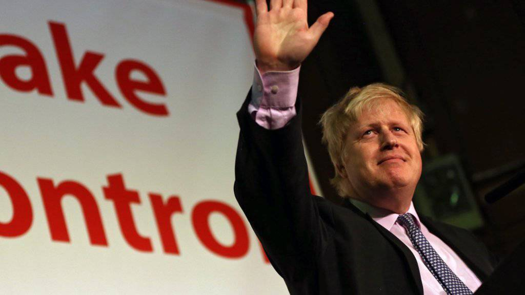 Sind laut einer neuen Umfrage in Rücklage: Die EU-Gegner, die einen Austritt Grossbritanniens aus der Europäischen Union fordern. Londons Bürgermeister Boris Johnson ist einer von ihnen (Archivbild)