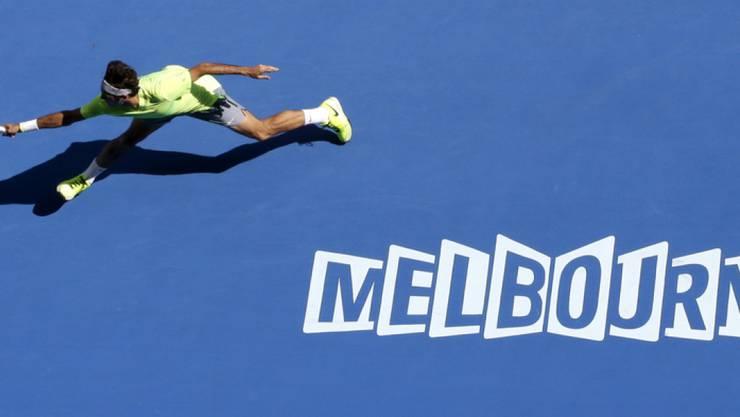 Roger Federer bei einem Match in Melbourne. Die australische Stadt hat offenbar mehr zu bieten als Tennis und ist die lebenswerteste Stadt der Welt. (Archiv)