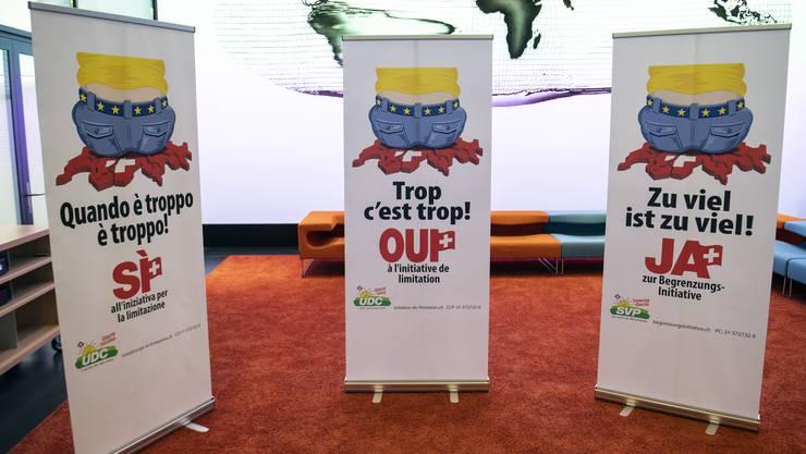 Die SVP startete am 11. August ihren Abstimmungskampf zur Begrenzungsinitiative.