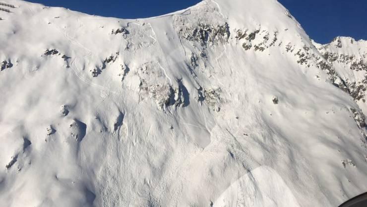 Hier ging die Lawine nieder und riss den Skitourengänger mit sich: Blick auf das Hofathorn oberhalb der Belalp.