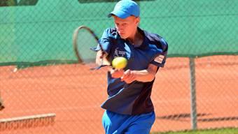 Luca Keist gewann bei seinem ersten Einsatz für den TC Teufenthal in diesem Jahr sein Einzel.