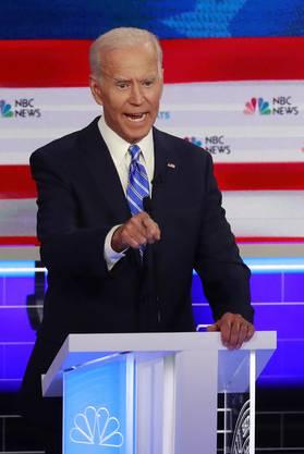 Joe Biden traf auf harten Widerstand bei der TV-Debatte der Demokraten.