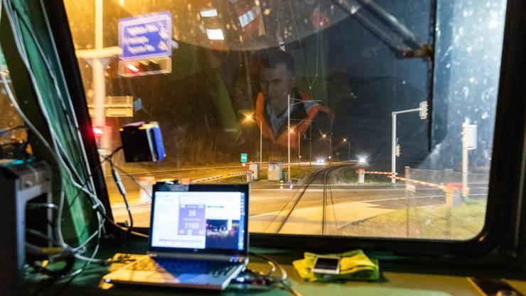 Dieser Computer steuert in der Nacht vom 8. Januar einen Testzug zwischen Oensingen und Balsthal SO.