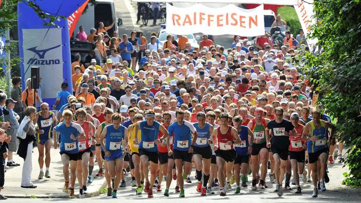 Am Sonntag wird zum letzten Mal im Bannfeldquartier zum Belchenberglauf gestartet. Foto: Kissling