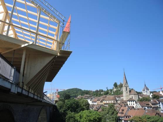 Die Aussicht auf die Badener Altstadt ist prächtig.