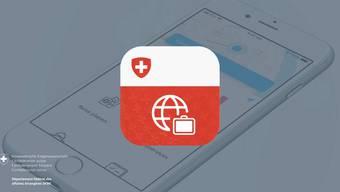 Die «Travel Admin App» des EDA.