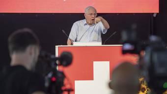 Parteifests und Wahlauftakts der SVP Schweiz vom Samstag, 31. August in Sattel.