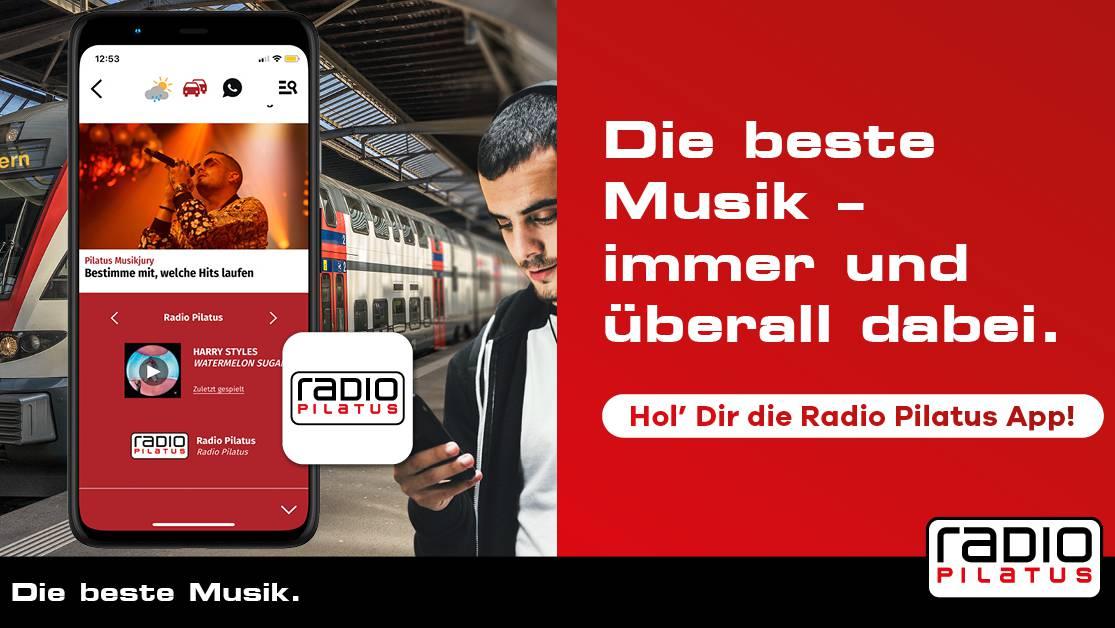 Hol' dir die Radio Pilatus-App!