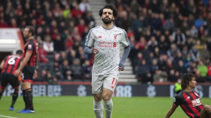 Salah trifft gegen Bournemouth gleich drei Mal.
