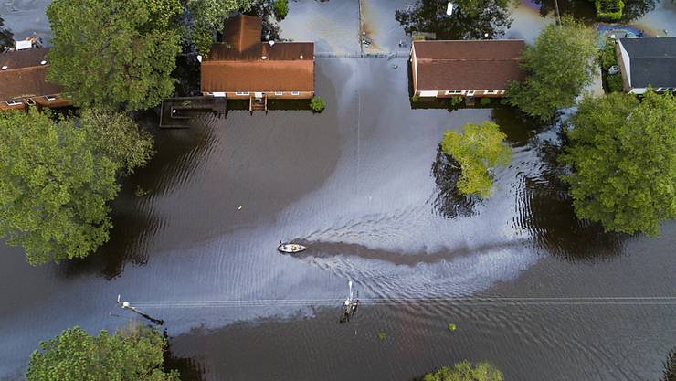 """Tropensturm """"Florence"""" hat unter anderem die Stadt New Bern im US-Bundesstaat North Carolina überflutet."""