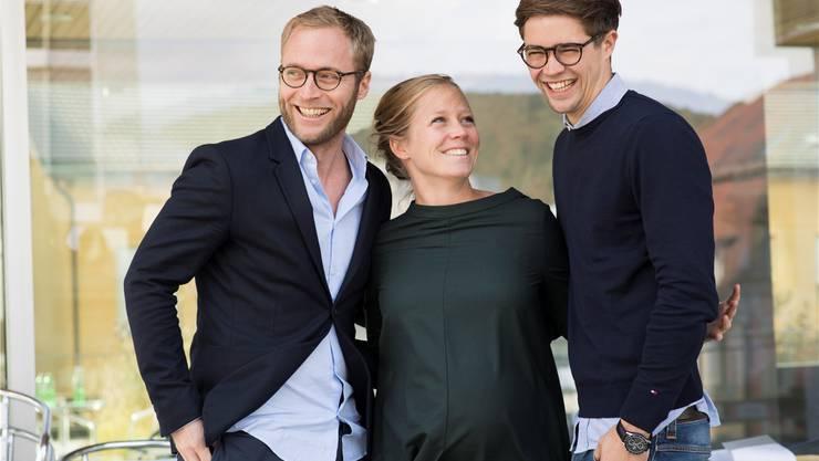«Wir sind mit Medienerzeugnissen aufgewachsen»: Michael, Anna und Florian Wanner – die fünfte Generation.
