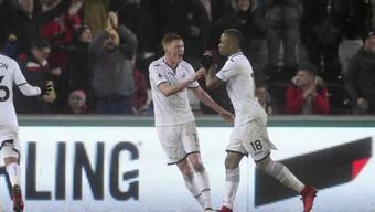 Brachte Swansea mit dem 2:1 gegen Arsenal auf Siegeskurs: Jordan Ayew (Nummer 18)