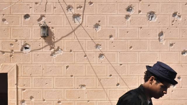 Eine Moschee mit Schusslöchern in Libyen (Symbolbild)