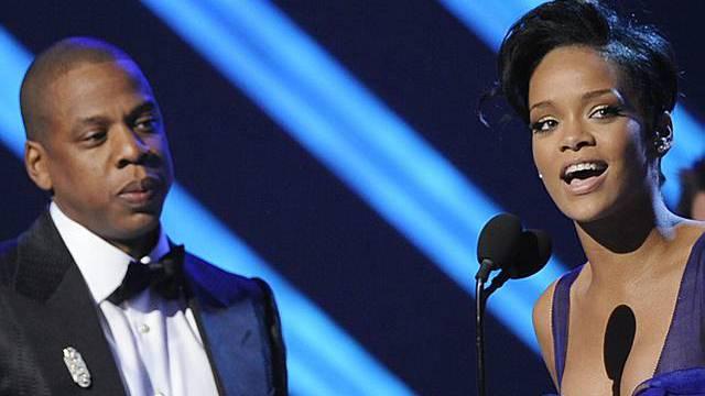 Rapstar Jay-Z und Rihanna (Archiv)