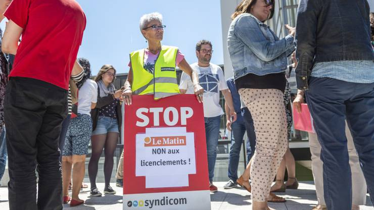 Letzte Chance für den Dialog: Sollte dies nicht geschehen, fassen die Westschweizer Redaktionen von Tamedia Kampfmassnahmen ins Auge, zum Beispiel auch einen Streik.
