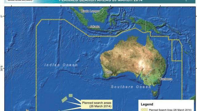 Suchgebiete der australischen Behörde für Seesicherheit