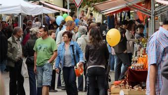 Ein typischer Markt mit Produkten aus der Region soll – wie im letzten September in Zeihen – wieder viele Besucher anlocken.