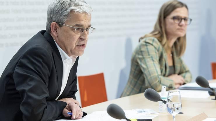 Für Christoph Berger, Präsident der Impfkommission, sind sinkende Fallzahlen jetzt besonders wichtig.
