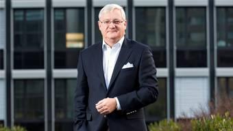 Peter Voser auf der Terrasse des BT-Hochhauses in Baden anlässlich eines Interviews vor drei Jahren.