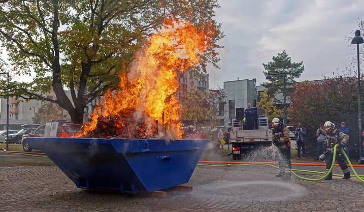 Hauptübung der Feuerwehr Birsfelden