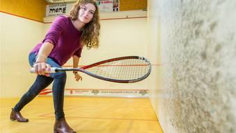 Nadine Frey ist beim internationalen Profi-Squashturnier in Frick Mitorganisatorin, bestreitet aber selber auch die Qualifikation. Fabio Baranzini