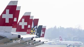 Derzeit bleibt die Flotte der Swiss weitgehend am Boden.