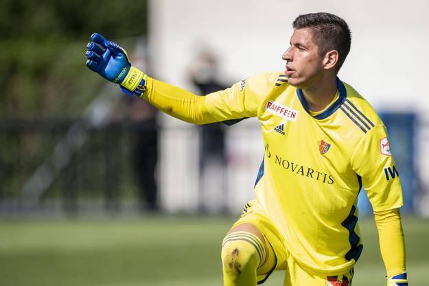 Torhüter Djorde Nikolic musste gleich fünfmal den Ball aus dem Netz holen. Trotzdem ist er die Nummer 1.