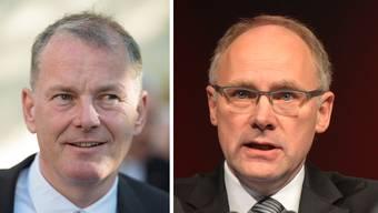 Regierungsrat Stephan Attiger und Nationalrat Hansjörg Knecht nehmen zur Wasserzinsfrage eine unterschiedliche Haltung ein.