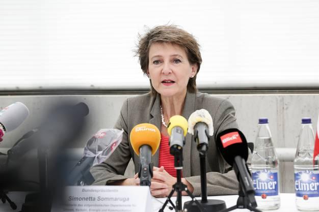 Point de presse mit Bundespräsidentin Simonetta Sommaruga zum internationalen Tag der Biodiversität sowie zum Austausch über die Coronakrise  auf dem Arenenberg.