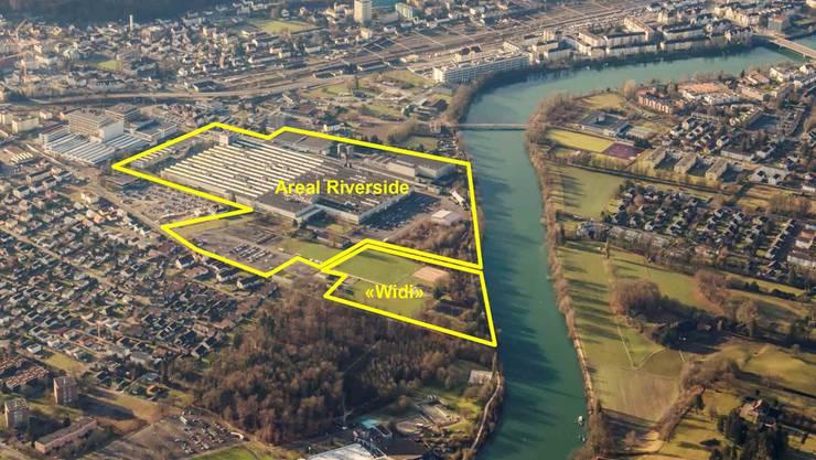 Die Swiss Prime Site will ihr Areal im Projekt Riverside weiterentwickeln. Die Widi würde das Areal ideal ergänzen.