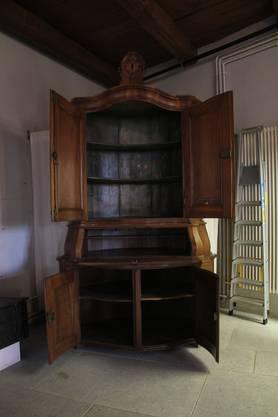 Während 57 Jahren stand das Villigerbuffet in der linken Ecke im Eingangsbereich des Stadtmuseums Brugg.